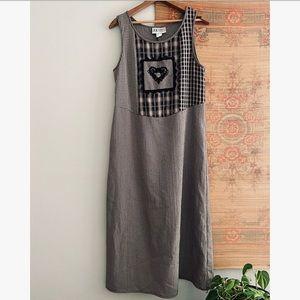 Cottage Core xx Plaid Maxi Dress